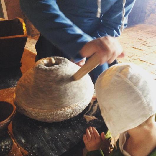 Markus from Apri Ludibundi group making four with his mill